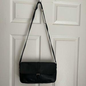Vtg Longchamp leather shoulder / crossbody bag